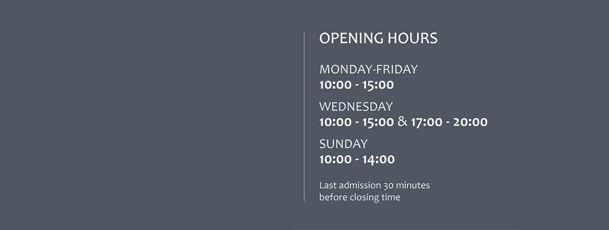 ATTENTION: NEW OPENING HOURS